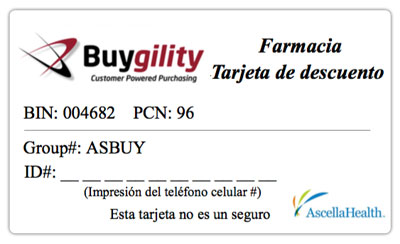 Image of Pharmacy Discount Card (Spanish)